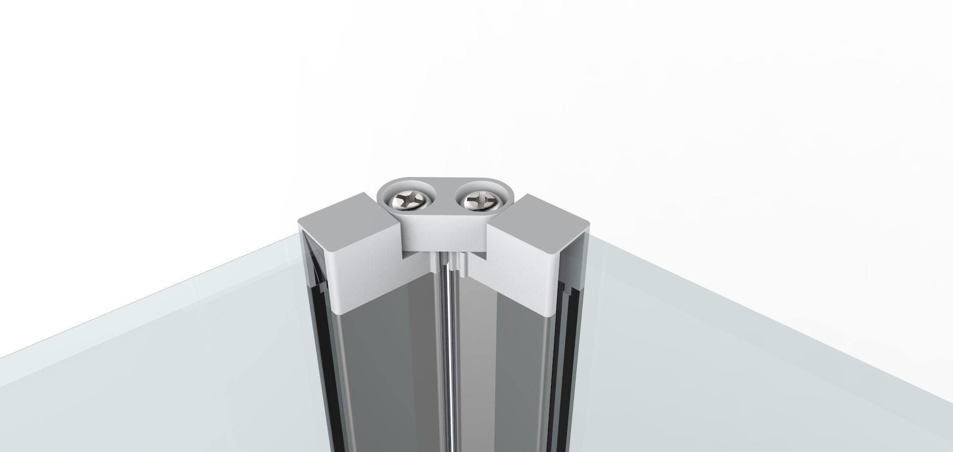 Porta doccia 70 195h pieghevole cristallo 6mm safe box - Porta doccia pieghevole ...