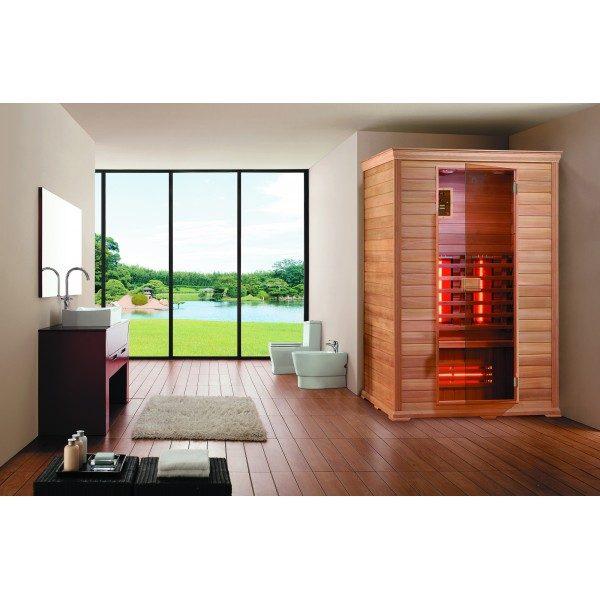 sauna in legno pregiato offerta